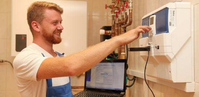 Настройка автоматики BUDERUS при запуске системы.