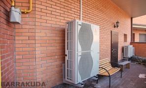 Уменьшаем затраты на отопление - установлен воздушный тепловой насос с функциями отопления и горячего водоснабжения