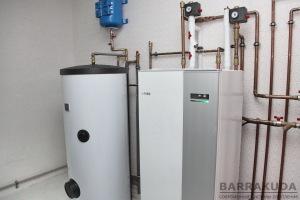 Бойлер 200 л. с увеличенным теплообменником, экономично обеспечивает приготовление горячей воды.