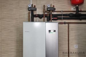 Система опалення на геотермальному тепловому насосі NIBE F1145 12 кВт, c коефіцієнтом COP - 4,79 (при 0/35 ° С), з максимальною температурою подачі 65 ° С від компресора, з підключенням до інтернет