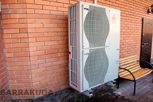 Монтаж воздушных тепловых насосов