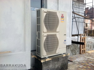 Монтаж воздушного теплового насоса