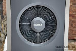 Воздушно-водяной тепловой насос, реверсивный (отопление, охлаждение), инверторный (изменяемая мощность), температура подачи теплового насоса + 62 С°; границы рабочей температуры наружного воздуха: отопление -20 …+45 С°, охлаждение +15 …+45 С°;